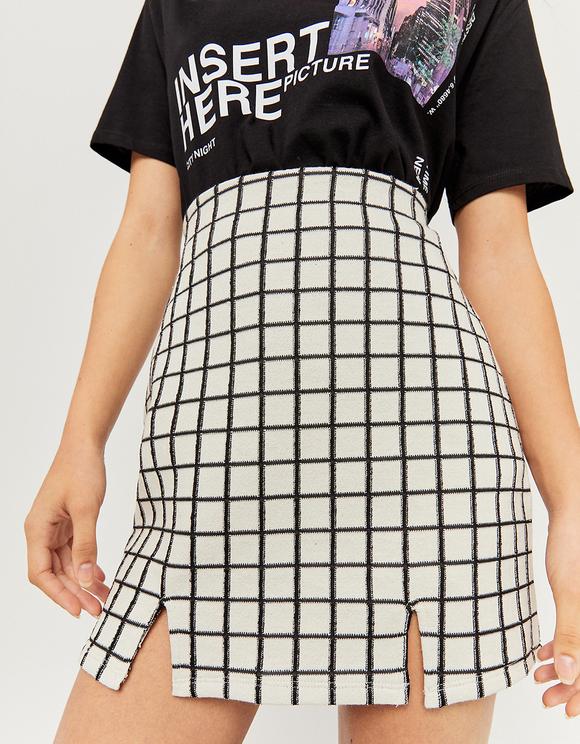 Window pane Mini Skirt
