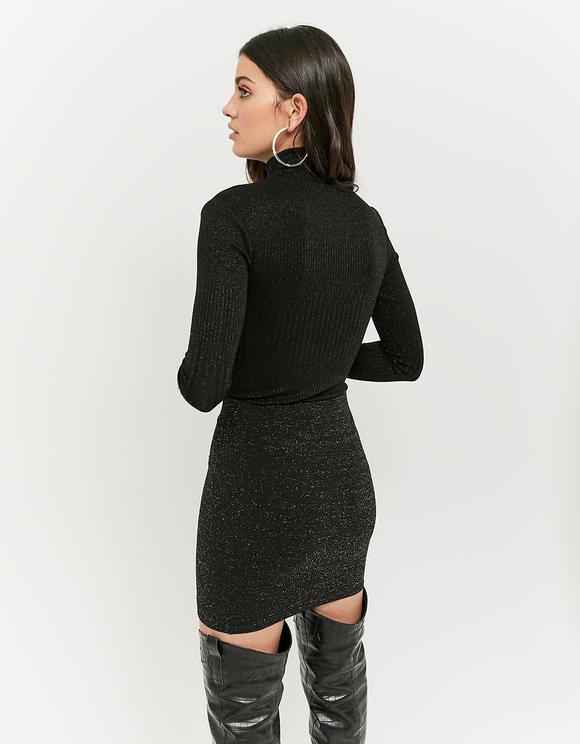 Black Lurex Skirt