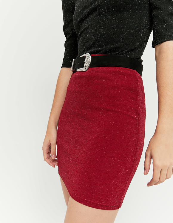 Red Lurex Skirt