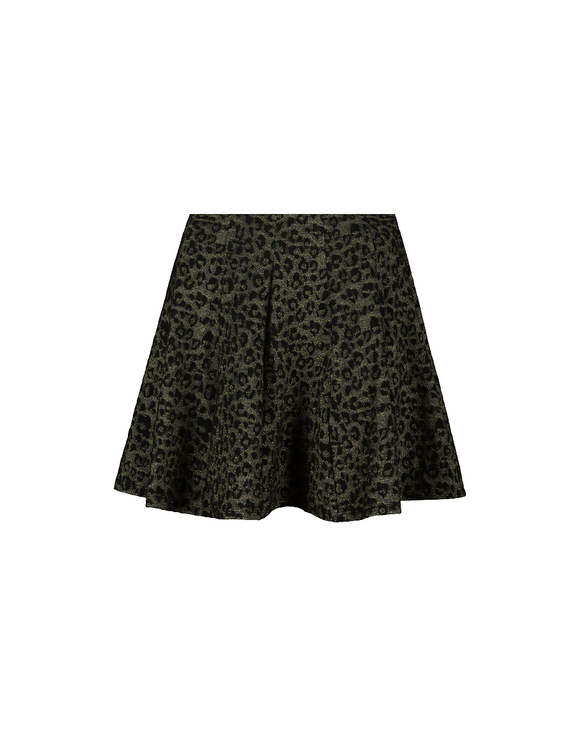 Green Printed Skater Skirt