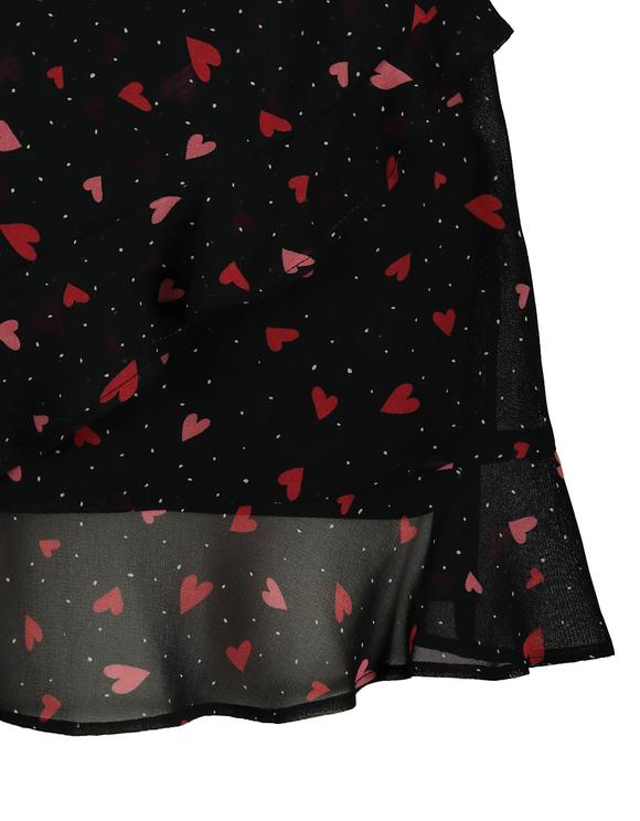 Confetti Heart Print Mini Skirt