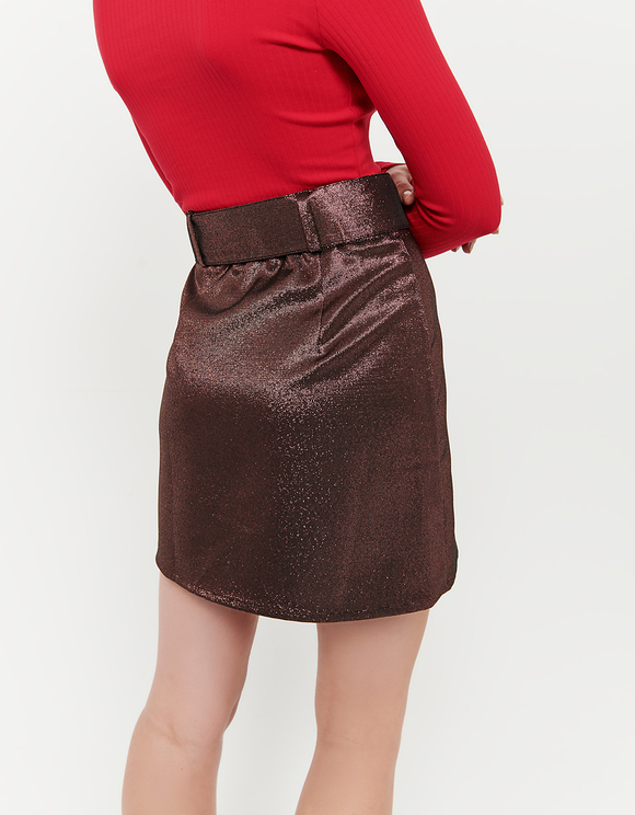 Rose Gold Belted Skirt