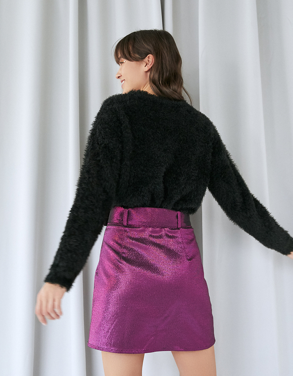 Purple Belted Skirt