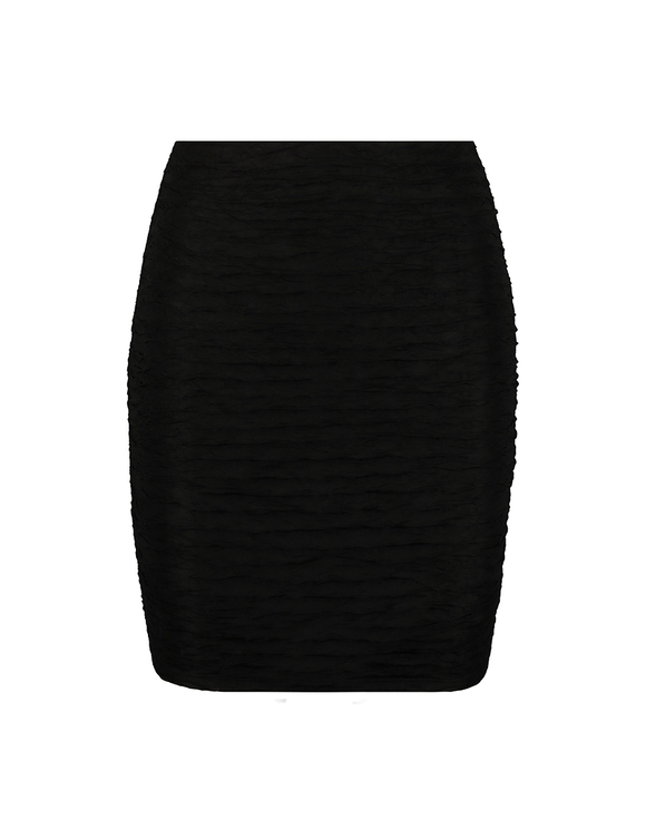 Black Skirt with Ruffles