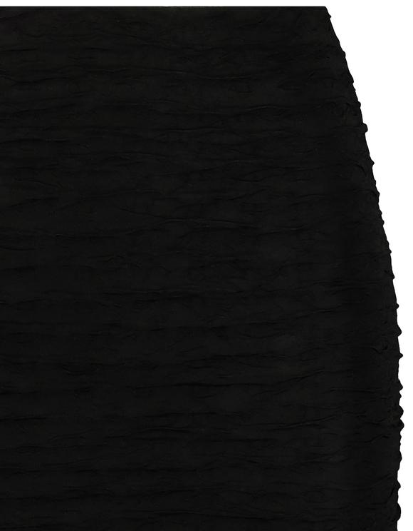 Schwarzer Rock mit Rüschen