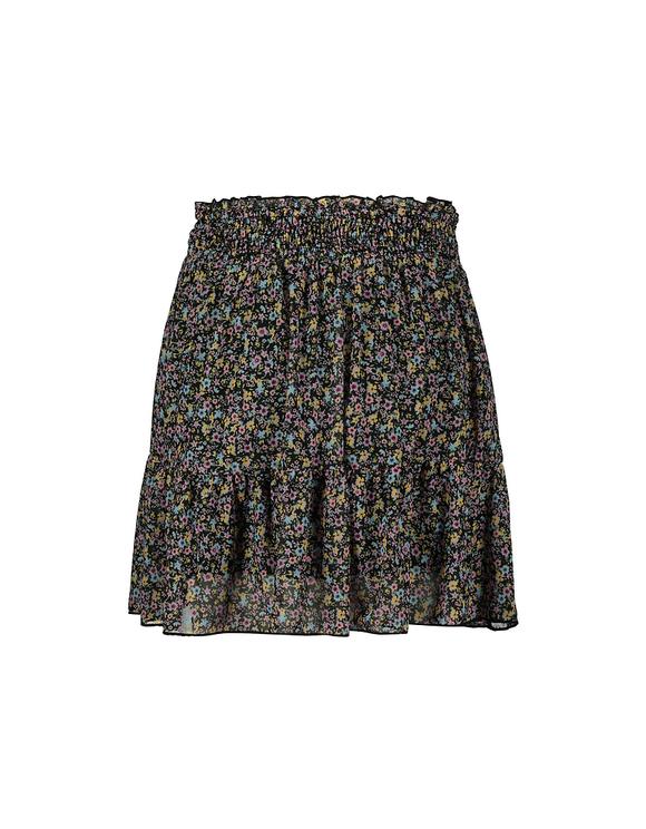 Floral Ruffle Trim Mini Skirt