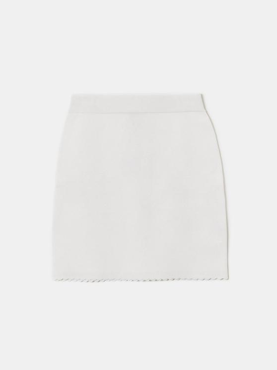 White Knitted Skirt