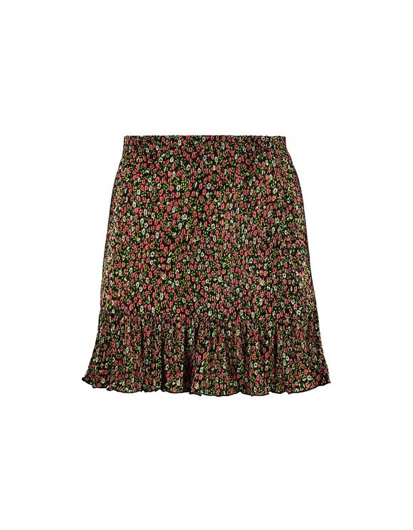 Minirock mit Blumen und Rüschen