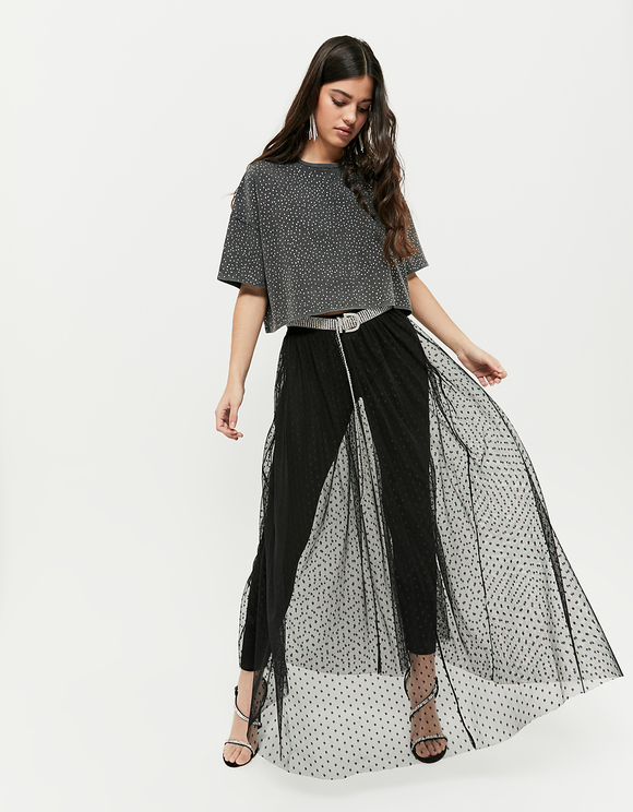 finest selection lower price with discount shop Black Mesh Skirt | TALLY WEiJL Online Shop