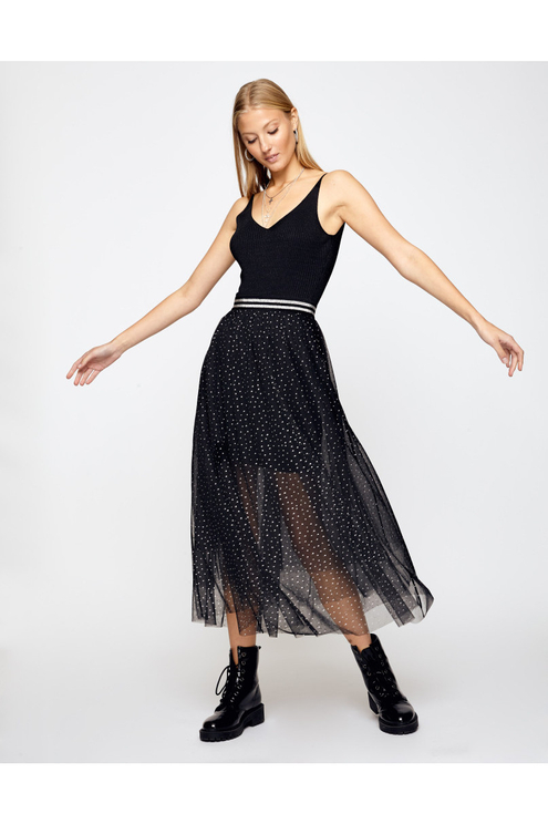 Black Glitter Tulle Skirt