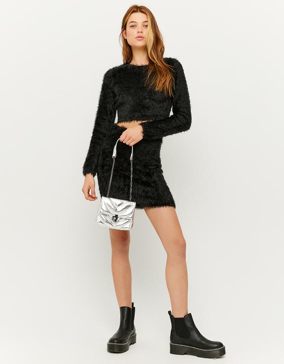 Black Soft Knitted Skirt