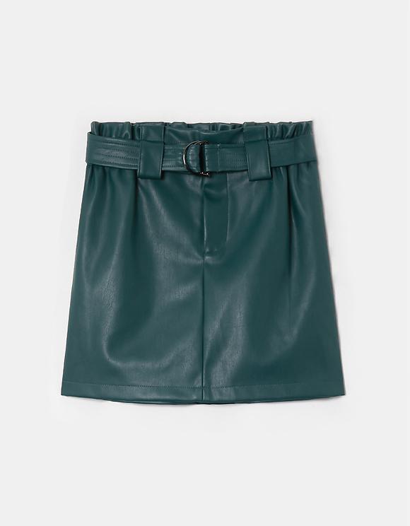 Mini Faux Leather Skirt
