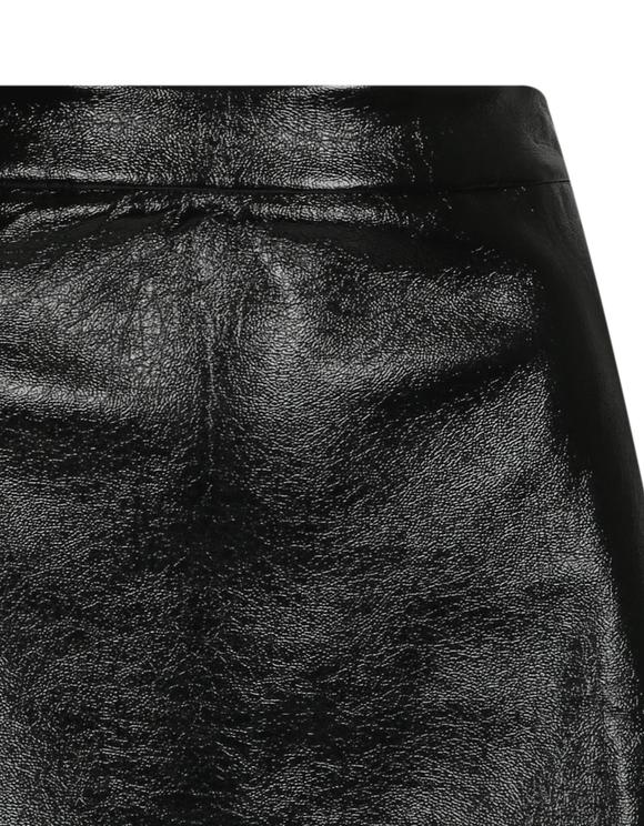 Schwarzer Rock aus Kunstleder