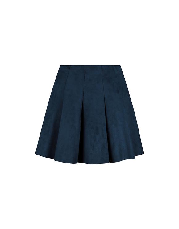 Purple Suedette Skirt