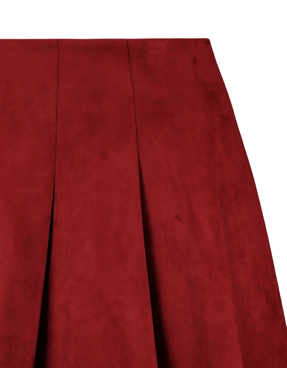 Red Suedette Skirt