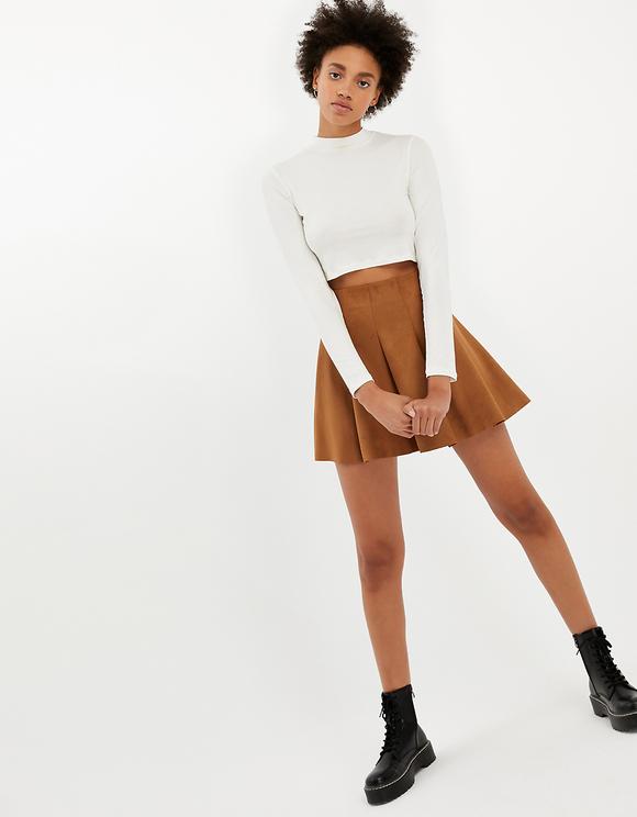 Beige Skater Skirt