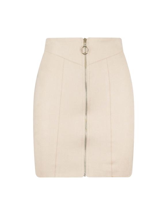 Beige Suede Skirt