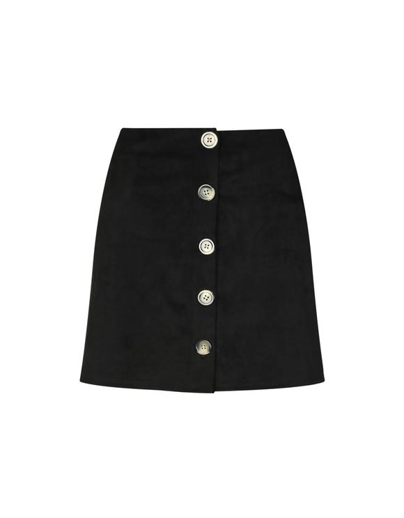Czarna zamszowa spódnica