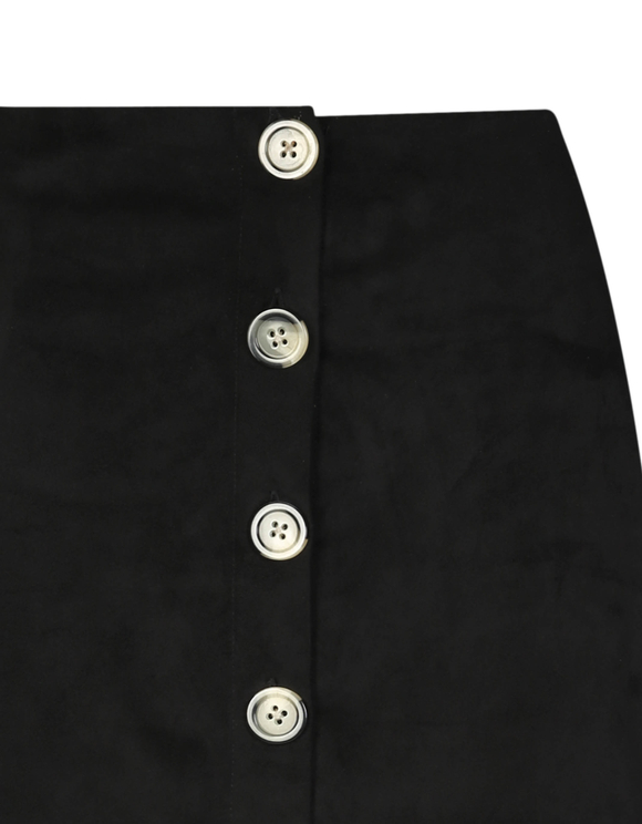 Black Suedette Skirt