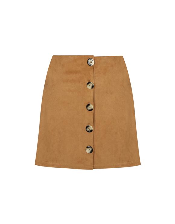 Camel Suedette Skirt
