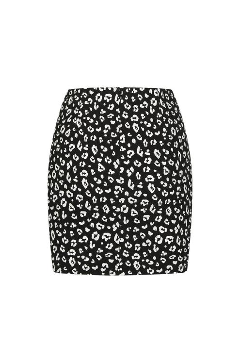 Leo Print Mini Skirt