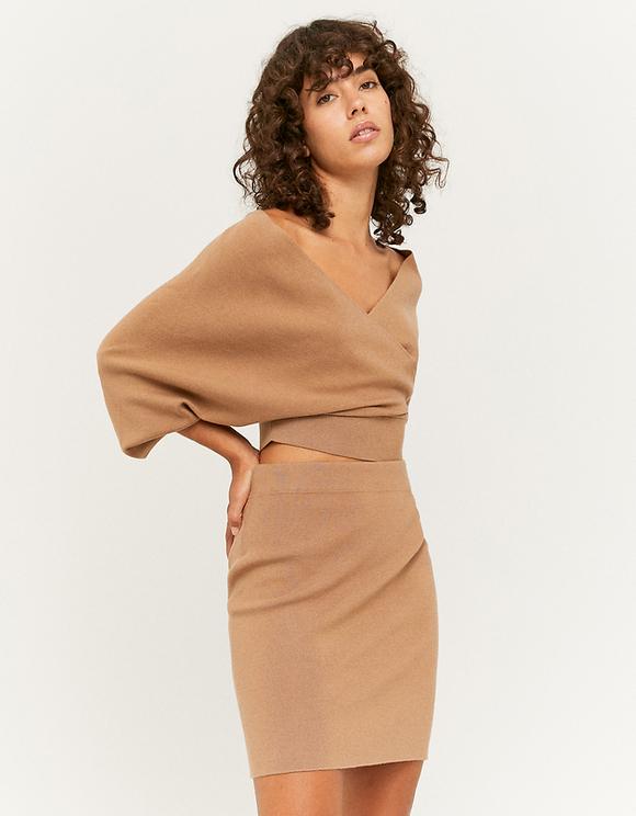 Beige Fine Knit Skirt