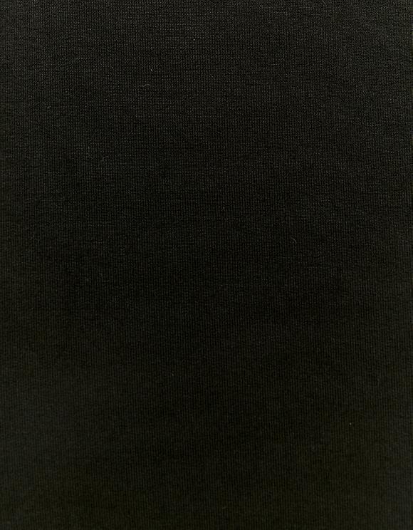 Black Long Molleton Skirt
