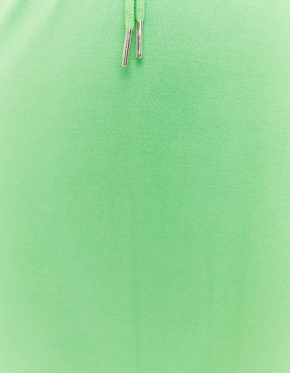 Jupe Short Longue Verte en Molleton