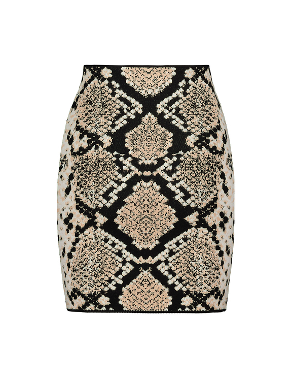 Snake Knitted Skirt