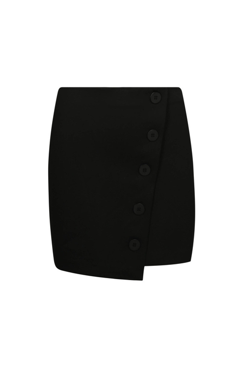 Black Buttonned Skirt