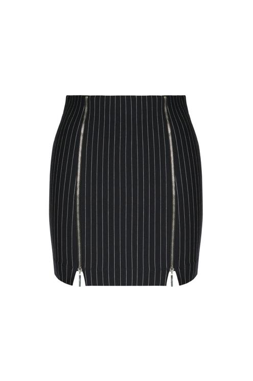 Striped Zip Skirt