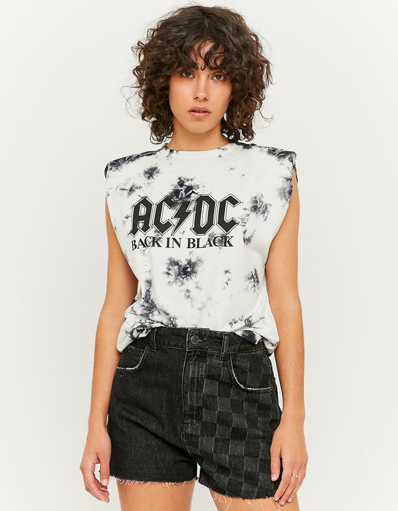 Top mit AC/DC Aufdruck