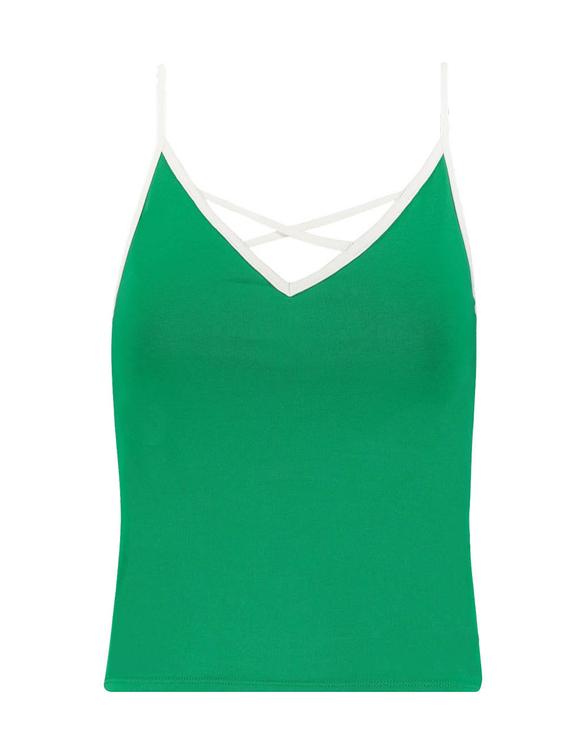 Grünes, ärmelloses Top