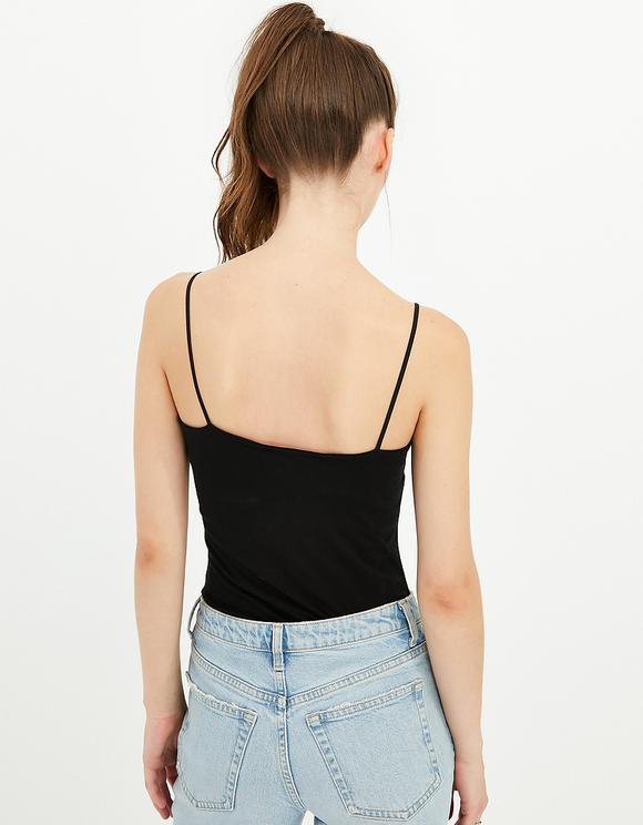 Black Basic Sleeveless Top