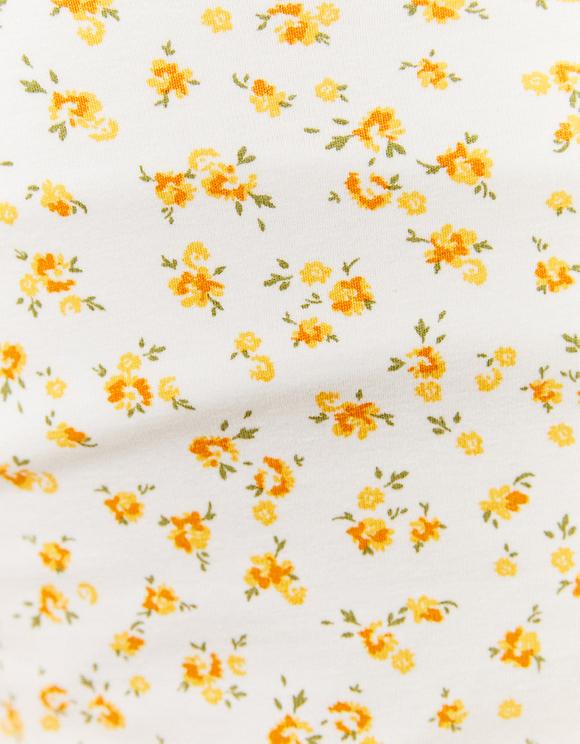 Débardeur Blanc Imprimé Fleuri