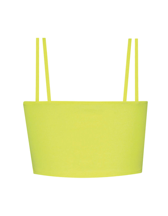 Neon Yellow Crop Top