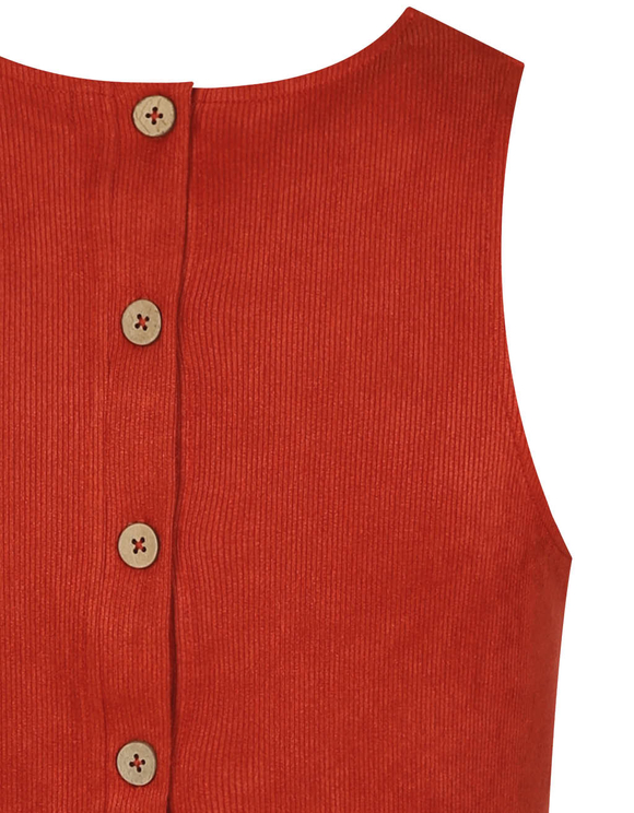 Red Buttonned Top