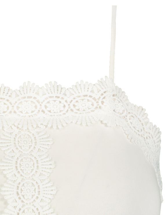English Embroidery Sleeveless Crop Top
