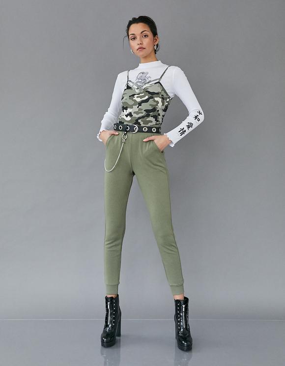 Schwarzes Camouflage-Top
