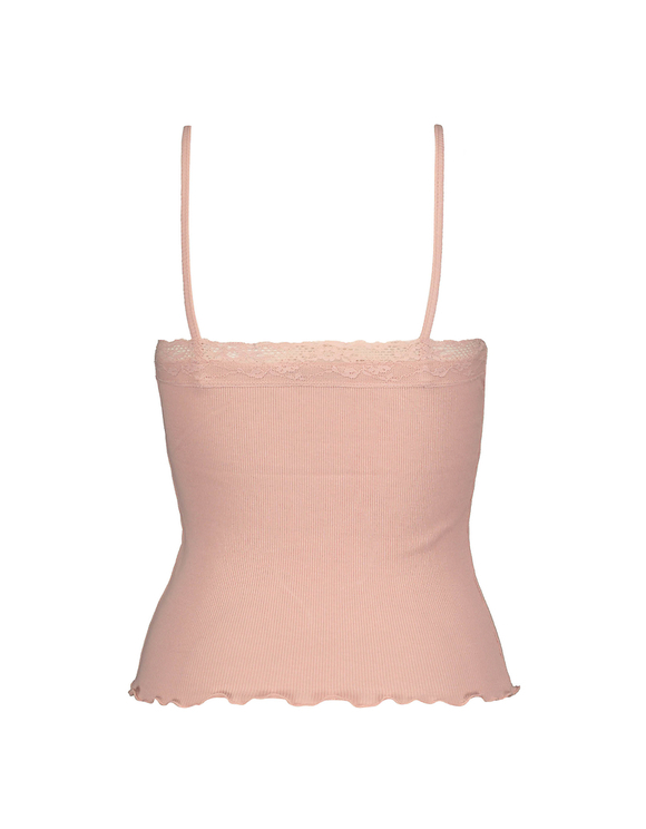 Pink Tank Top with Lace