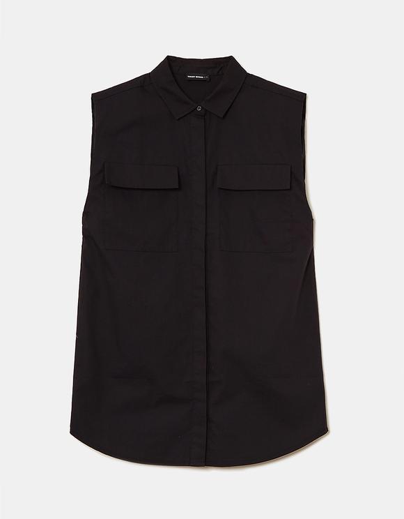 Schwarzes Basic Hemd