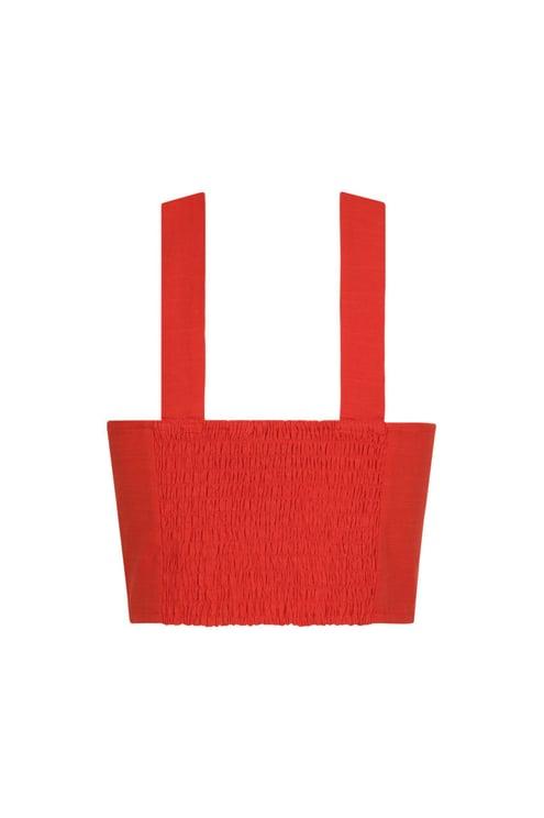 Orange-rotes Crop Top