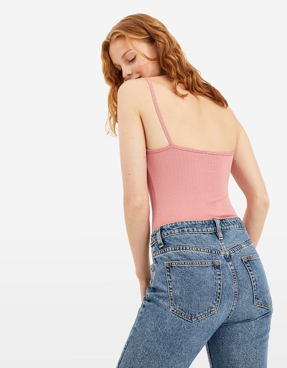 Pink Basic Crop Top