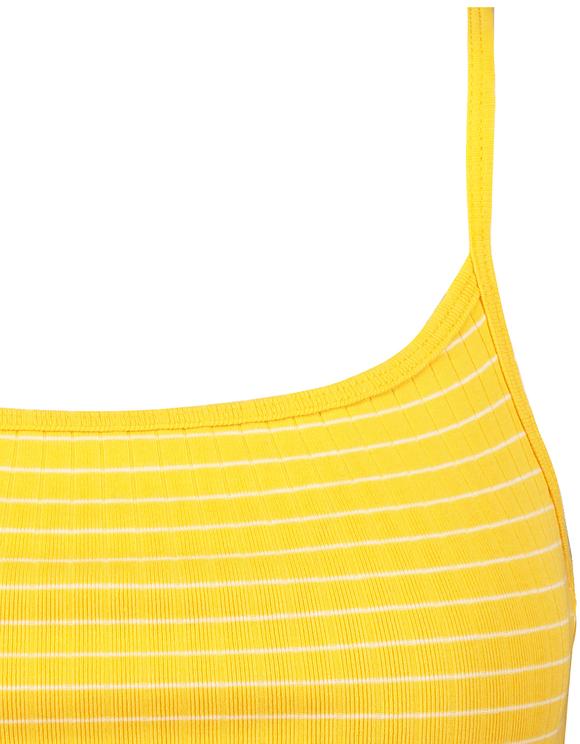 Żółty top CROPPED w paski