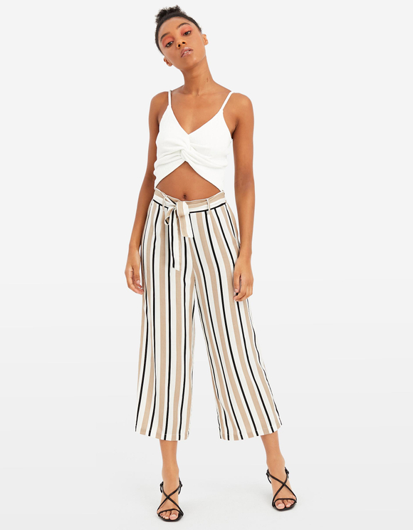 Crop Top Blanc Torsadé