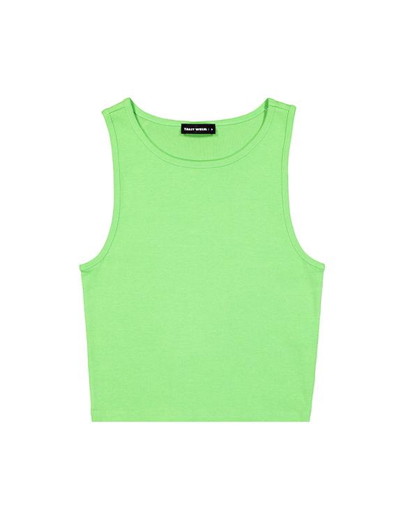 Neon Green Basic Tank Top