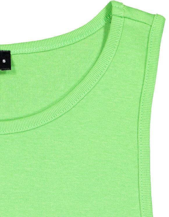 Top Verde Neon Basico a Spalline