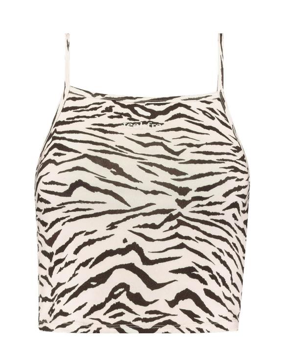 Zebra Print Tank Top