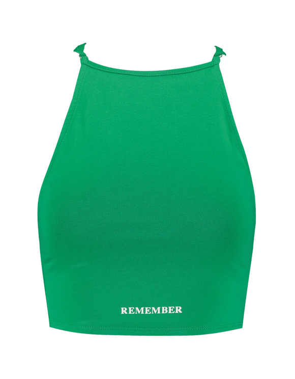 Green Top with Open Back