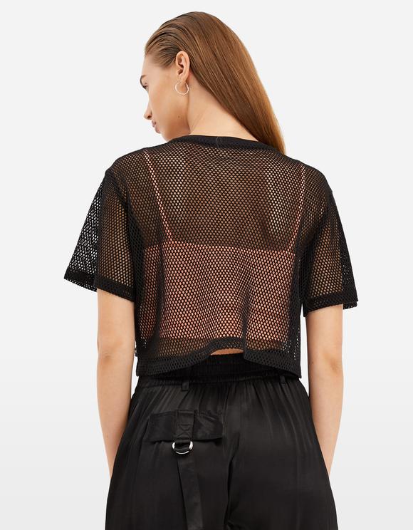 Black Fishnet Top